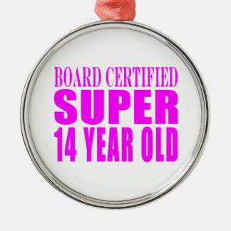 Girls Birthdays B Cert Super Fourteen Year Old Ornament