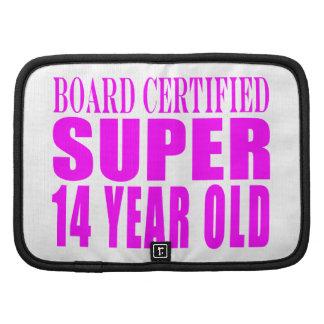Girls Birthdays B Cert Super Fourteen Year Old Planner