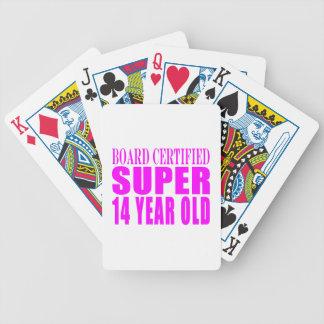Girls Birthdays B Cert Super Fourteen Year Old Playing Cards