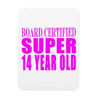 Girls Birthdays B Cert Super Fourteen Year Old Flexible Magnet
