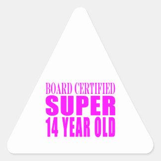 Girls Birthdays B Cert Super Fourteen Year Old Stickers