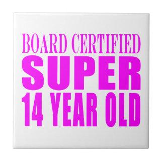 Girls Birthdays B Cert Super Fourteen Year Old Tiles