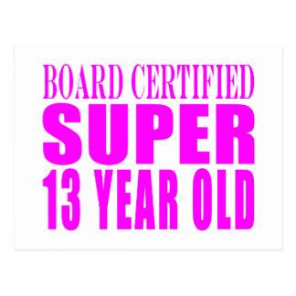 Girls Birthdays B. Cert. Super Thirteen Year Old Post Cards