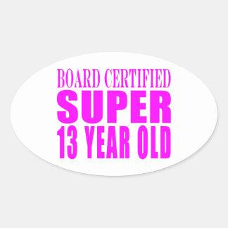 Girls Birthdays B Cert Super Thirteen Year Old Sticker