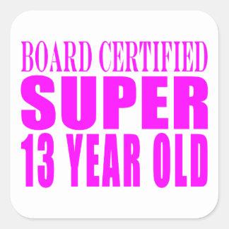 Girls Birthdays B Cert Super Thirteen Year Old Stickers