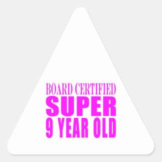 Girls Birthdays B Certified Super Nine Year Old Stickers