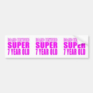 Girls Birthdays B. Certified Super Seven Year Old Bumper Sticker