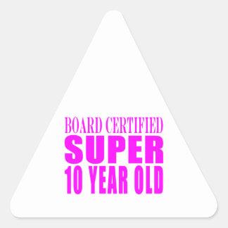 Girls Birthdays B Certified Super Ten Year Old Sticker