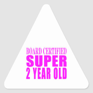 Girls Birthdays Board Certified Super Two Year Old Stickers