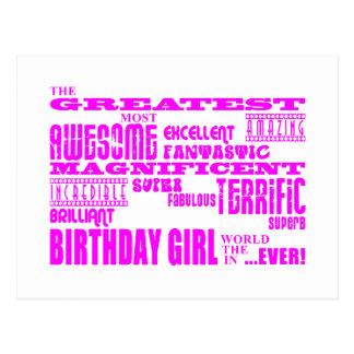 Girls Birthdays Greatest Most Birthday Girl Post Card