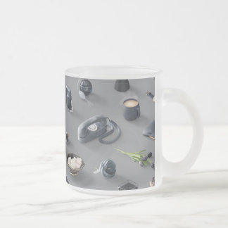 Girl's Black Dream Frosted Glass Coffee Mug