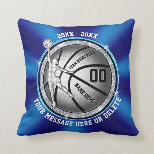 GIRLS Blue Senior Night Basketball Gift Ideas Throw Pillow