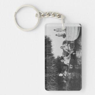 Girls & Boats Acrylic Rectangle Keychain