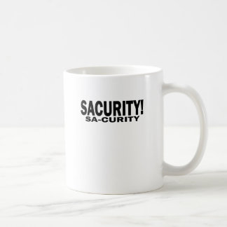 GIRLS Bon Qui Qui Security Sacurity! Tee White.png Coffee Mug