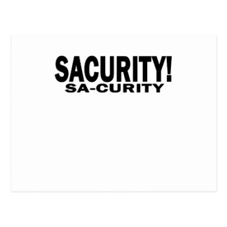 GIRLS Bon Qui Qui Security Sacurity! Tee White.png Postcard