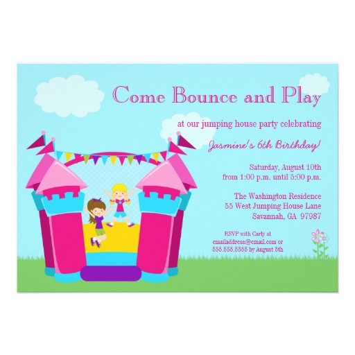 Personalized Bounce Invitations – Bounce Party Invitation