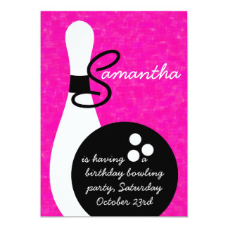 Bowling Birthday Party Invitations & Announcements | Zazzle