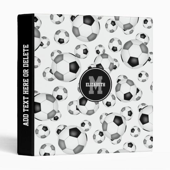 girls boys sports soccer balls back to school 3 ring binder