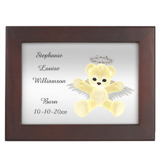 Girl's / Boy's Yellow Angel Teddy Bear Keepsake Box
