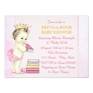 Girls Bring a Book Baby Shower Card