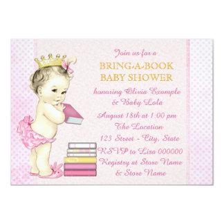 Girls Bring a Book Baby Shower Card