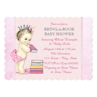 Girls Bring a Book Baby Shower Announcement