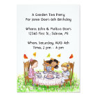 Girls & Butterflies Tea Party Garden Invitations
