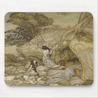 Girls by a Stream Mousepads