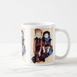 Girls By Schiele Egon Coffee Mug