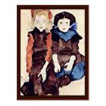 Girls By Schiele Egon Postcards