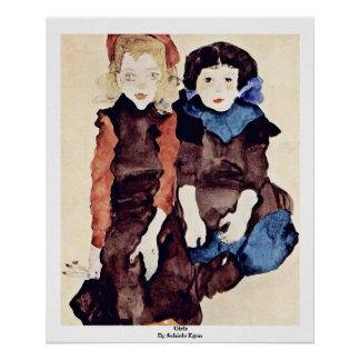Girls By Schiele Egon Posters