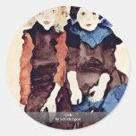 Girls By Schiele Egon Sticker