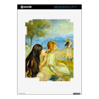 Girls by the Seaside by Pierre Renoir Decal For iPad 3