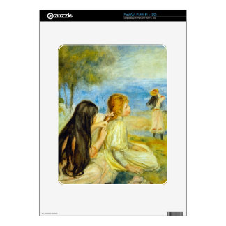 Girls by the Seaside by Pierre Renoir Decal For The iPad