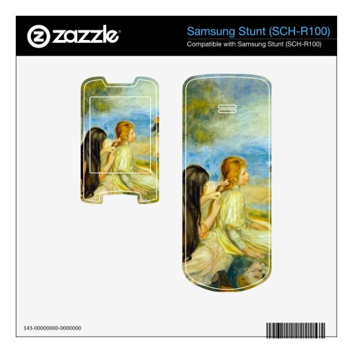 Girls by the Seaside by Pierre Renoir Decal For Samsung Stunt