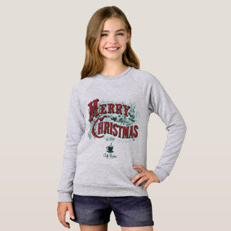Girls' CaféBoston Xmas Raglan Sweatshirt