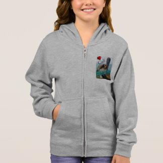 """Girl's Calif Ffleece zip hoodie pelican """"Cali"""""""