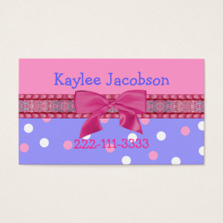 Girl's calling card / enclosure card