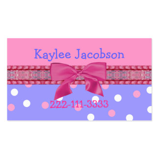 Girl's calling card / enclosure card business card template