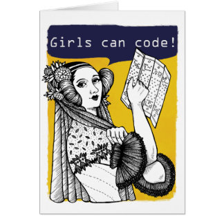 Girls can code! card