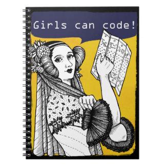 Girls can code! spiral notebook