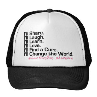 girls can do anything (girl power) trucker hat