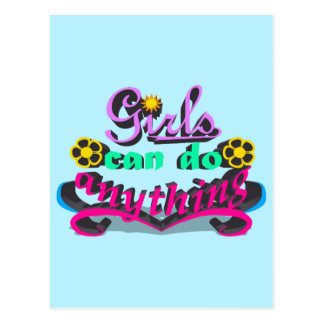 Girls Can Do Anything Postcard