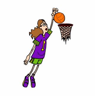 Girls can slam dunk basketball cut outs
