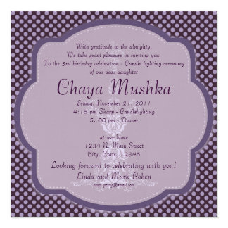 Girls Candlelighting Ceremony Card