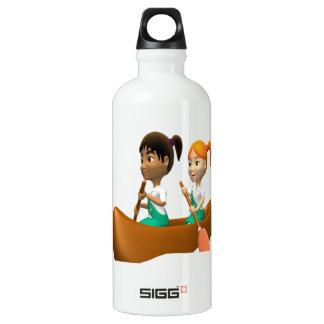 Girls Canoeing Water Bottle