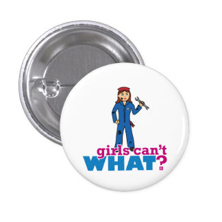 Girls Can't WHAT? Colorize Me Custom Designs Pinback Buttons
