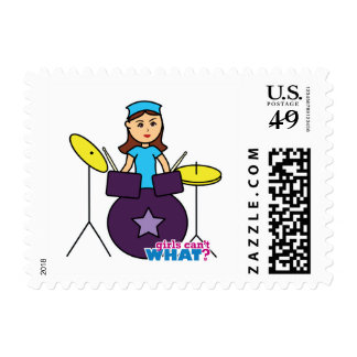 Girls Can't WHAT? Colorize Me Custom Designs Postage Stamp