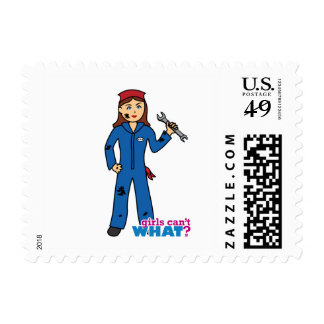 Girls Can't WHAT? Colorize Me Custom Designs Postage Stamps