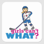 Girls Can't WHAT? Colorize Me Custom Designs Stickers